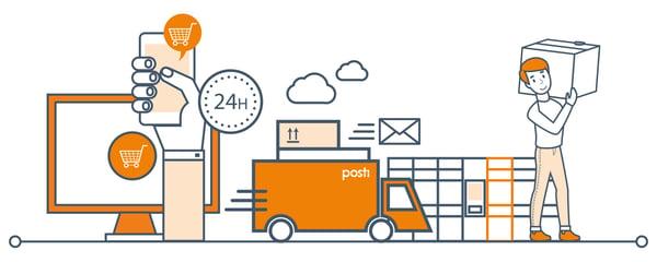 posti verkkokaupan 24h toimitukset